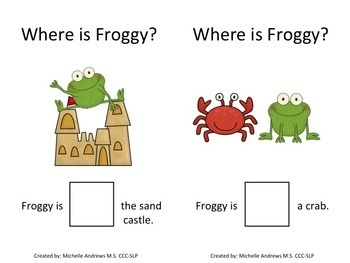 Find Froggy Interactive Book with Spatial Prepositions Where Questions