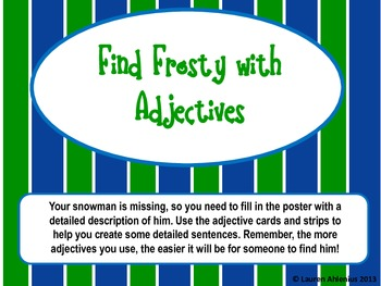 A Christmas Literacy Station Activity: Find Frosty with Ad