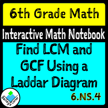 Find Gcf And Lcm Using A Ladder Diagram Foldable With Practice Tpt