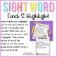 Dolch Sight Words Find and Highlight