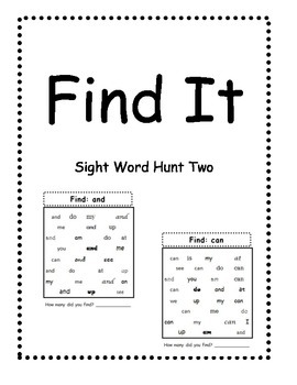 Find It Two: A sight word task