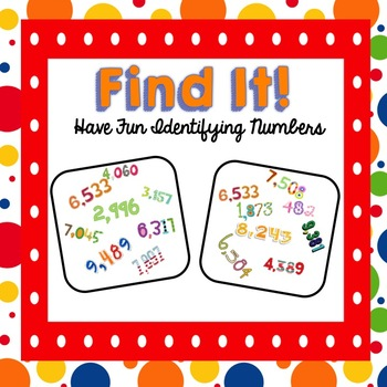 Find It! An Identifying 4-Digit Numbers Game