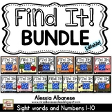 Find It! (BUNDLE) - {Numbers 1-10 and Sight Words}