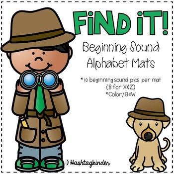 Find It!  Beginning Sound Alphabet Mats