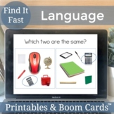 Find It Fast Language - Growing Bundle for Speech and Language Games