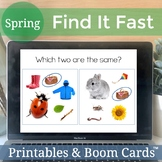 Find It Fast Spring. Speech and Language Therapy Games (Spot It)
