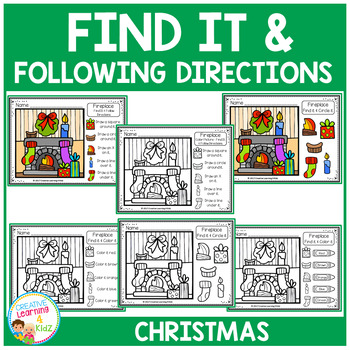 Find It & Following Directions: Christmas