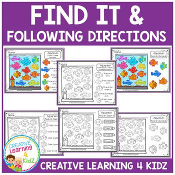 Find It & Following Directions Freebie