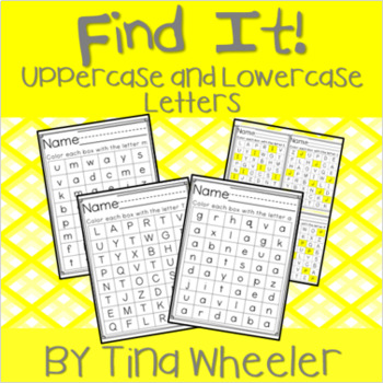 Find It! Letters ~ Lowercase and Uppercase Capital Letters