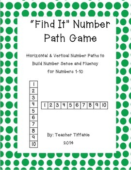 FREEBIE Find It! Number Paths and Game