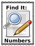 Find It: Numbers NO PREP CENTER