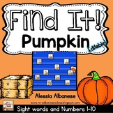 Find It! Pumpkin - {Numbers 1-10 and Sight Words}