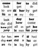 Find It! Sight Words--K-1: First 50 words Set 1 Word Work