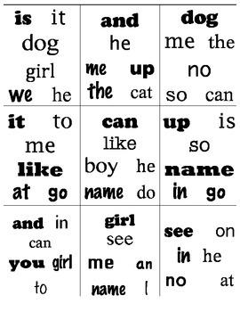Find It! Sight Words--Kindergarten Word Work Station