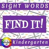 Find It! Sight Words-Kindergarten