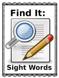 Find It: Sight Words NO PREP CENTER