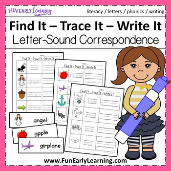 Find It - Trace It - Write It Literacy Activity {Common Core}