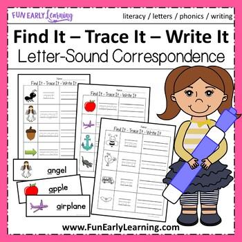 Find It - Trace It - Write It Initial Sounds