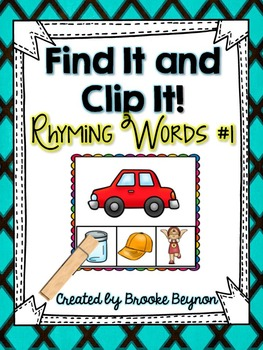 Find It and Clip It - Rhyming Words #1
