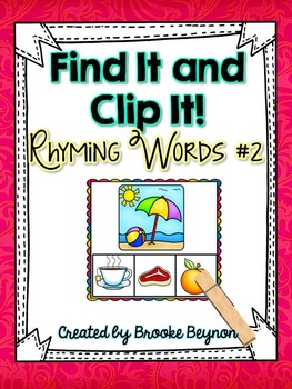 Find It and Clip It - Rhyming Words #2
