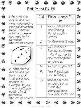 Find It and Fix It - A Fun Way to Edit and Revise Student Writing