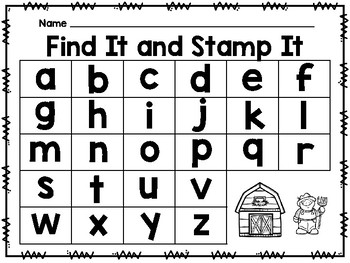 Find It and Stamp It - Farm Theme