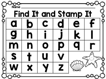 Find It and Stamp It - Ocean Theme