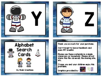 Find It and Stamp It - Space Theme