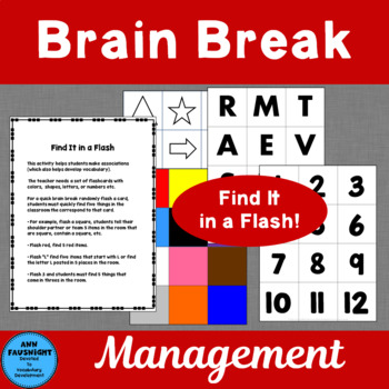 Find It in a Flash Brain Break Flashcards