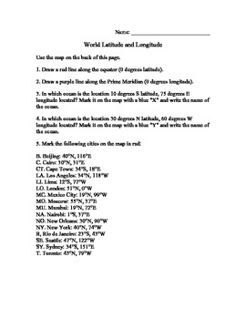 Find Latitude and Longitude - Major World Cities