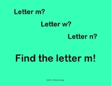 Find Letter M Interactive Game
