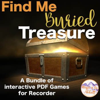Find My Buried Treasure: 45 Games for Recorder {BUNDLE}