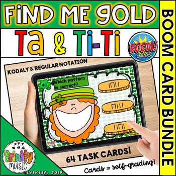 Find Me Gold (Ta and Ti-Ti) Boom Digital Task Cards BUNDLE