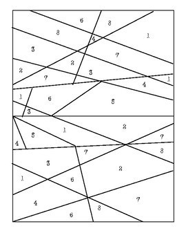 Find Missing Angle of a Triangle: Color by Number (BONUS St. Patrick's page)
