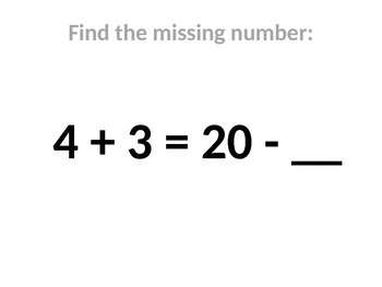 Find Missing Number: Balance An Equation