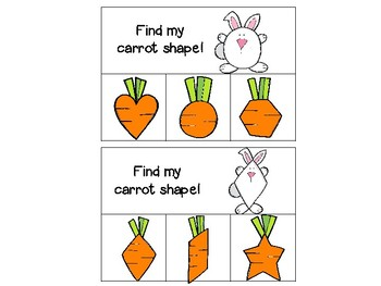 Find My Carrot Shape! (identifying shapes cards)