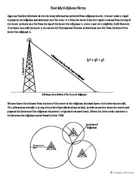 Find My Cellphone - Pythagorean Theorem Activity