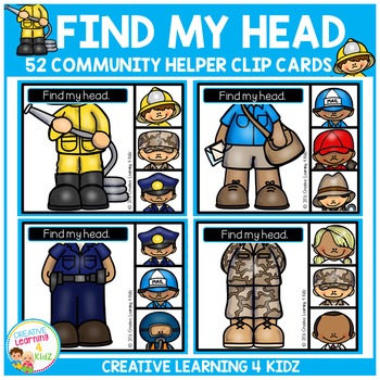 Find My Head Clip Cards: Community Helpers