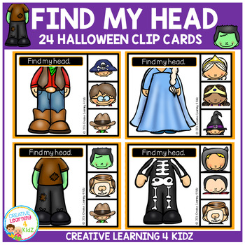 Find My Head Clip Cards: Halloween