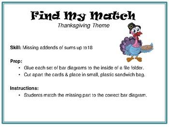 Find My Match-Thanksgiving