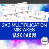 Find Multiplication Mistakes Task Cards (2 Digit x 2 Digit Error Analysis)