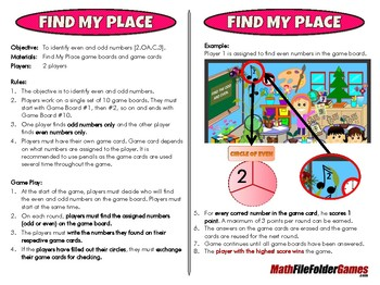 Find My Place - 2nd Grade Math Game [CCSS 2.OA.C.3]