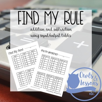 Using Input and Output Tables with Basic Addition