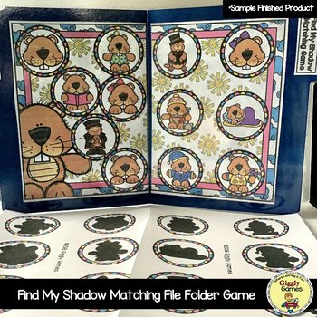 Find My Shadow Matching File Folder Game