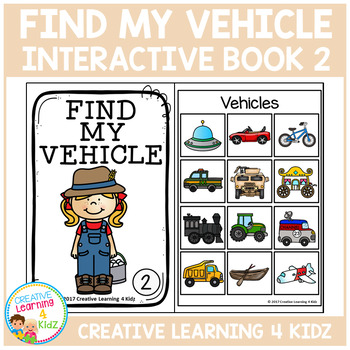 Find My Vehicle Interactive Book 2 Community Helpers