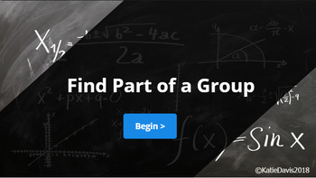Find Part of A Group Lesson Plan