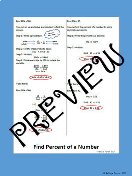 Find Percent of  Number