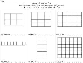 Find Perimeter of Rectangles
