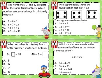 3.4J Find Quotients using Multiplication/Division Comp. Task Cards STAAR