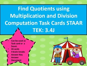 Find Quotients using Multiplication/Division Comp. Task Ca